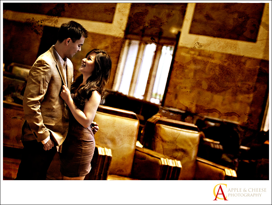 Mikee & Valerie Engagement Photography Session at Union Station Los Angeles CA