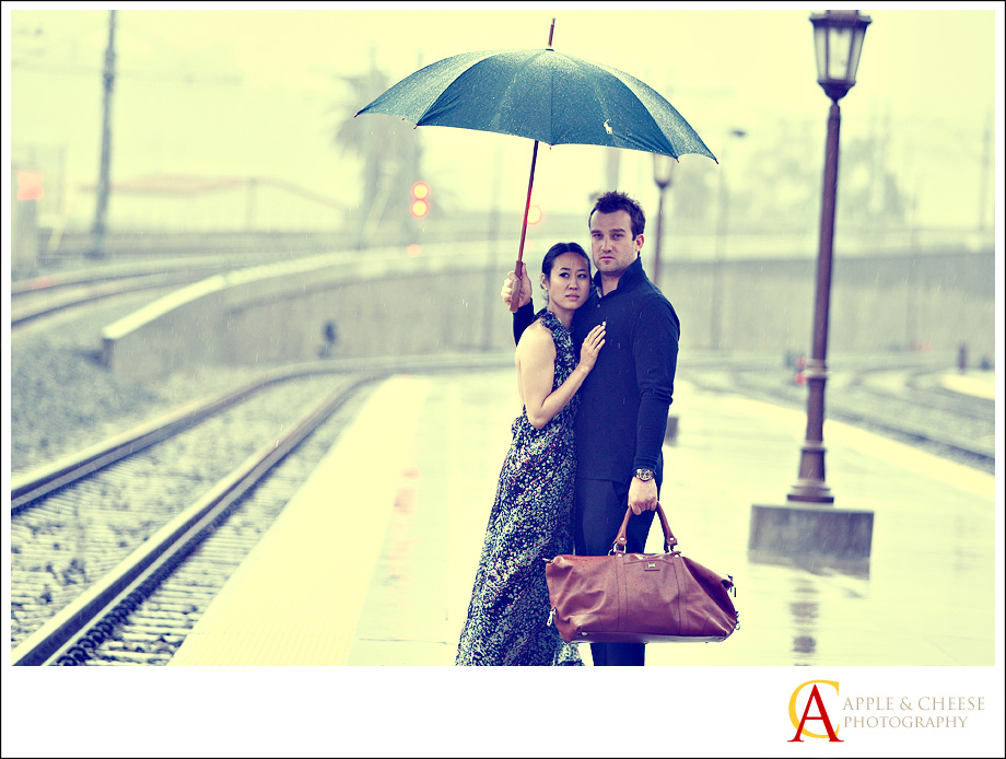 Engagement Photography Session at Union Station Los Angeles CA