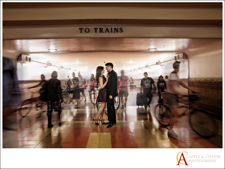 Los Angeles Union Station Engagement Session Hugo Sanaz