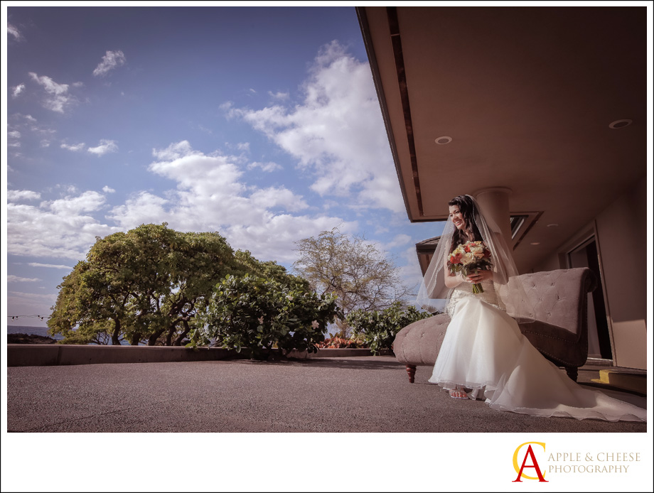 A Maui destination wedding photography by Apple and Cheese at the Kukahiko estates in Makena for Shandrea and Mark