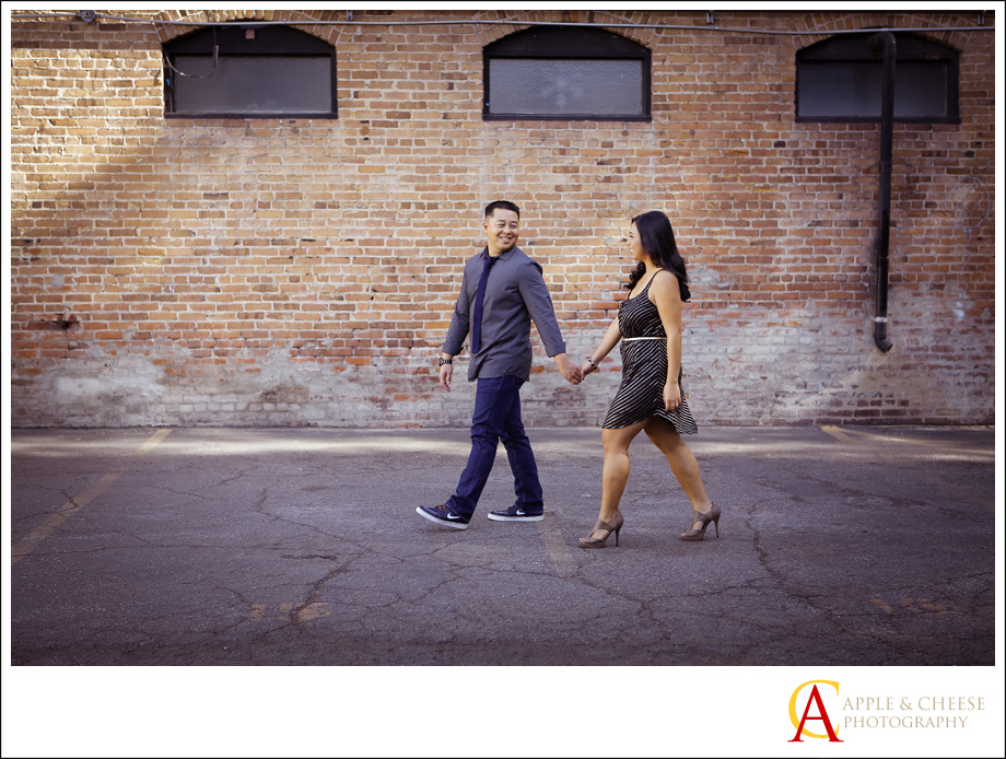 an engagement session in old town pasadena