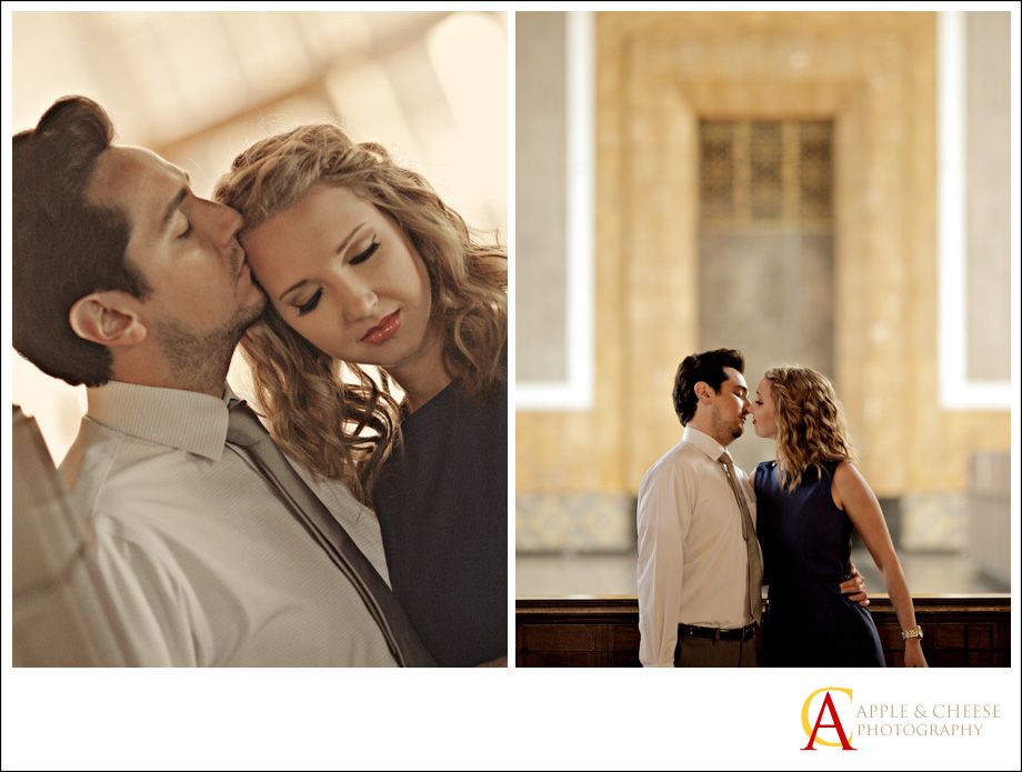Los Angeles Union Station Engagement Session Rachel Johnny